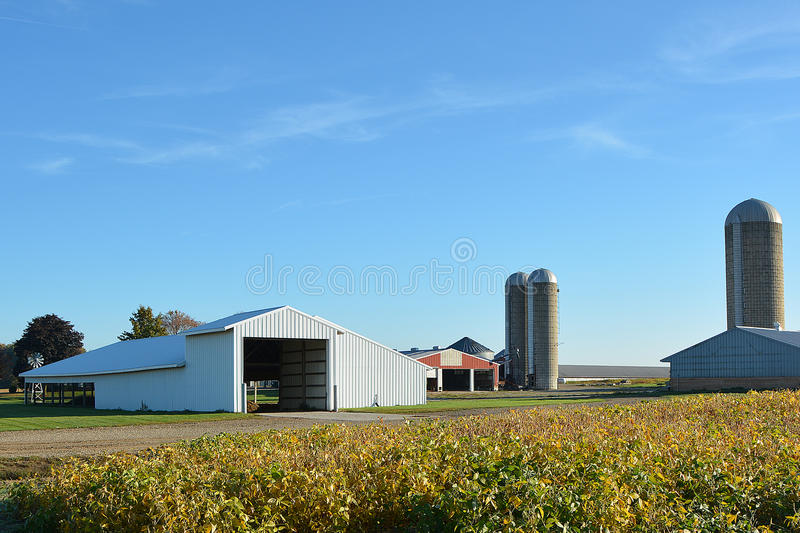 Download Farm Site stock image. Image of silos, site, soybean - 34630807