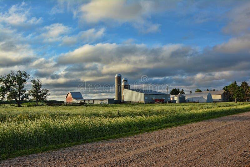 Farm Site Sunrise royalty free stock photos