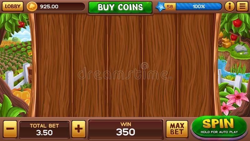 Farm slot game vector illustration