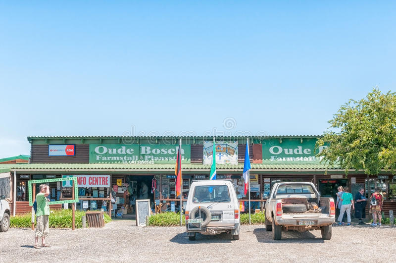 Farm stall and information centre. KAREEDOUW, SOUTH AFRICA - FEBRUARY 28, 2016: A farm stall and information centre next to the R102 Regional Road between royalty free stock image