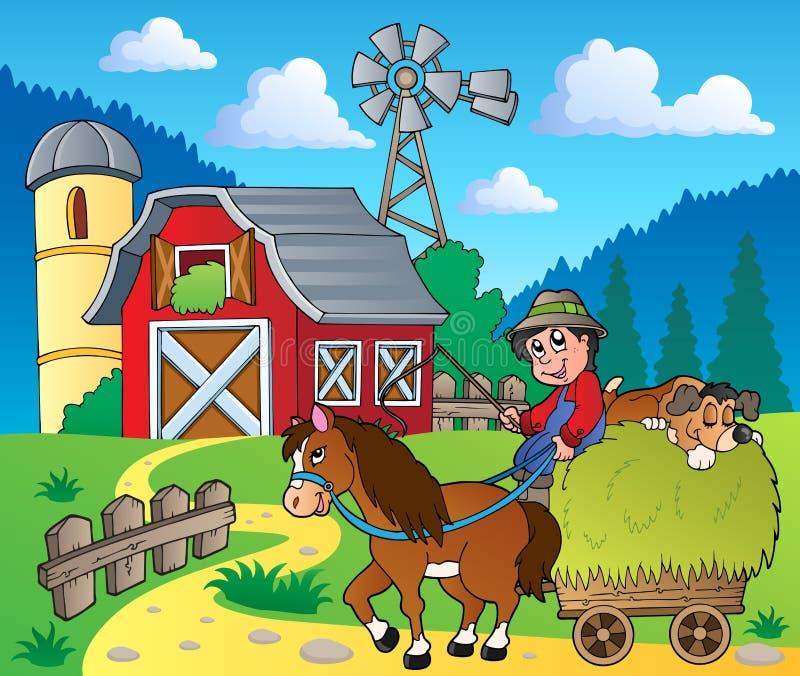 farm theme image 6 stock vector image of people  barn barnyard clip art outline barnwood clipart