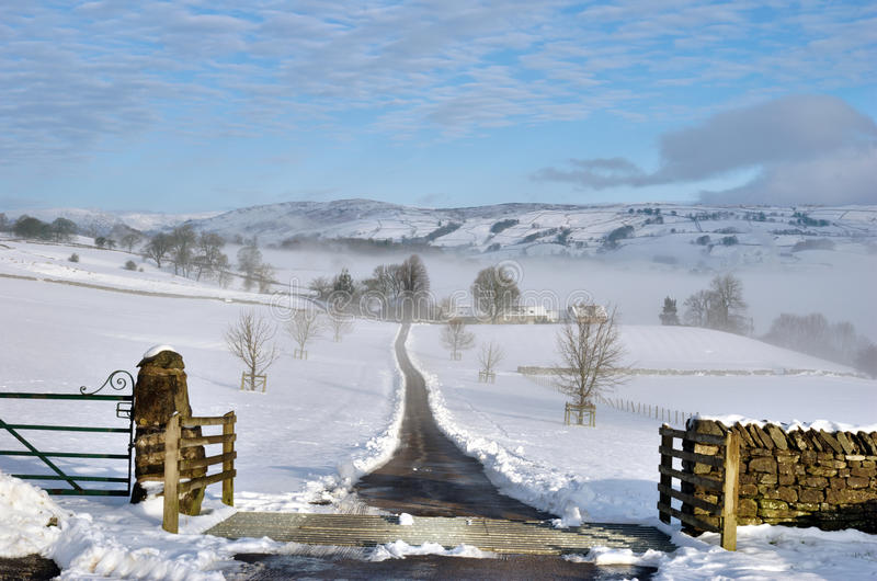 Download Farm Track Leading Through Snow Stock Photo - Image: 23297066