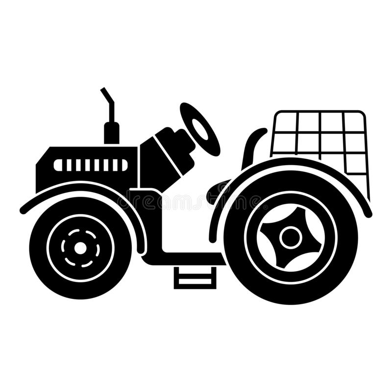 Farm tractor icon, simple style. Farm tractor icon. Simple illustration of farm tractor vector icon for web design isolated on white background stock illustration