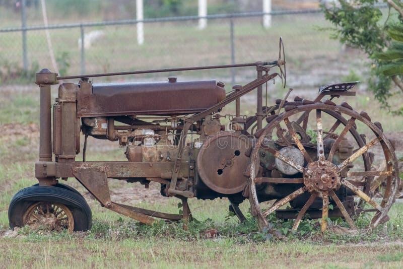 Farm tractor stock photo