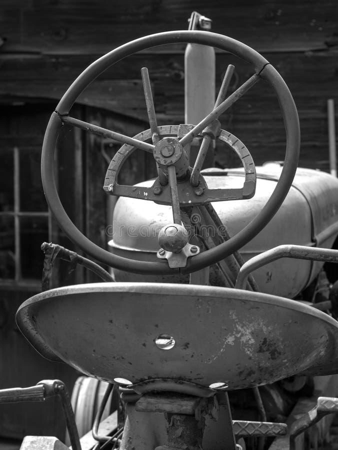 Farm Tractor Steering Wheel stock photography