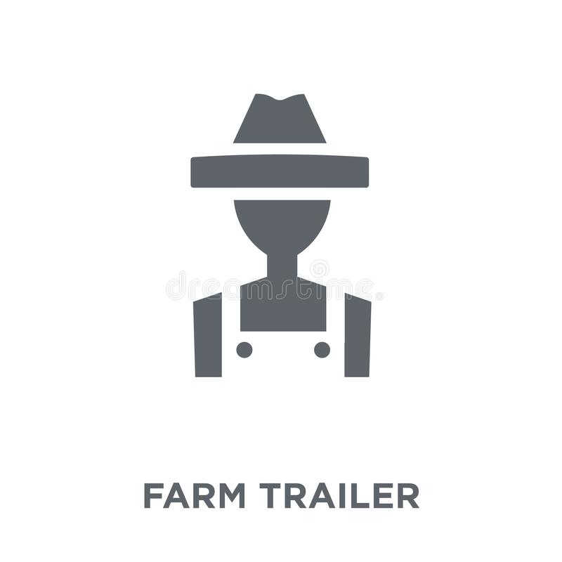 Farm Trailer icon from Agriculture, Farming and Gardening collection. Farm Trailer icon. farm Trailer design concept from Agriculture, Farming and Gardening royalty free illustration