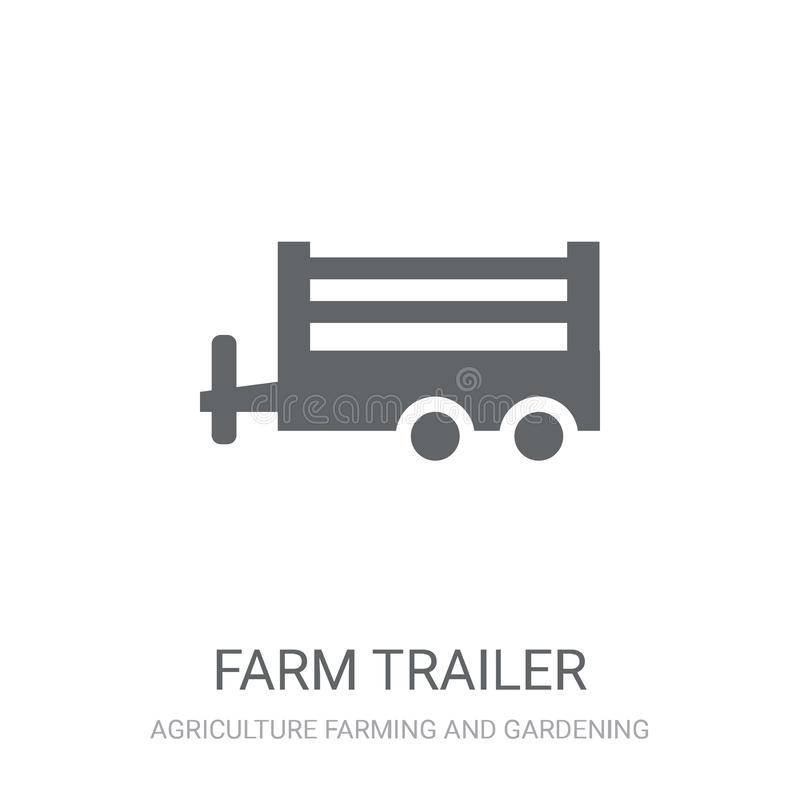 Farm Trailer icon. Trendy farm Trailer logo concept on white background from Agriculture Farming and Gardening collection. Suitable for use on web apps, mobile royalty free illustration