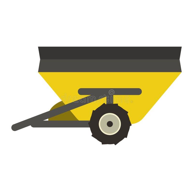 Farm trailer vector illustration. stock illustration