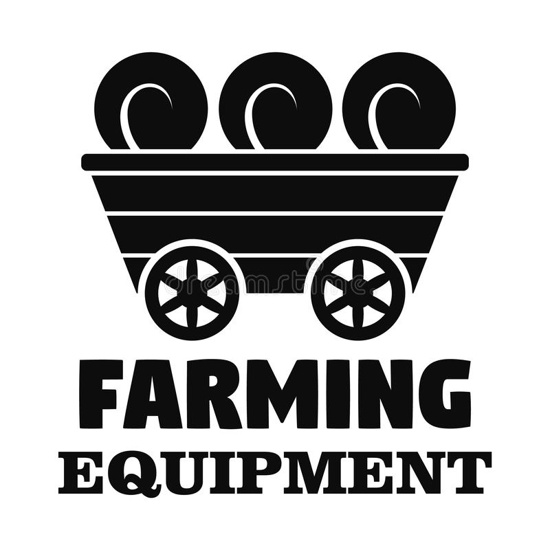 Farm transport logo, simple style royalty free illustration