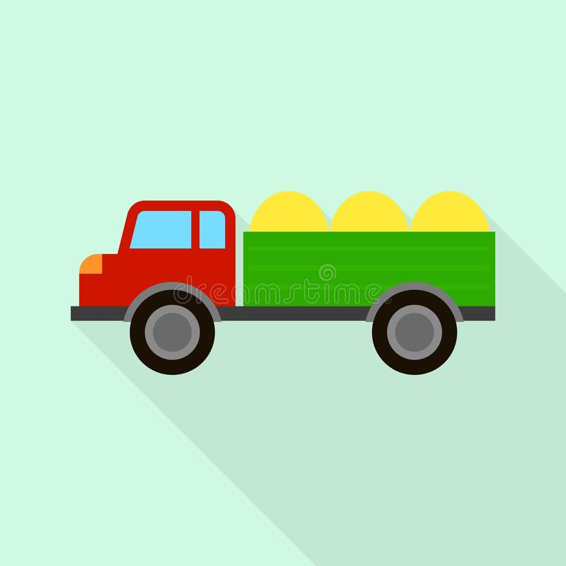 Farm truck icon, flat style. Farm truck icon. Flat illustration of farm truck vector icon for web design vector illustration