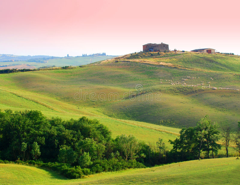Farm in Tuscany stock photos