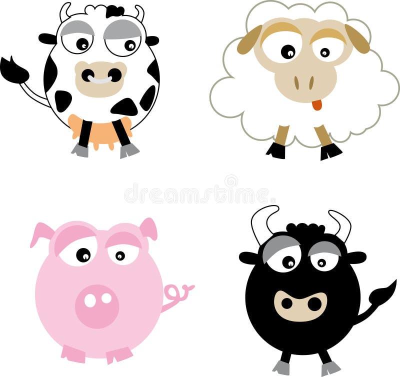 Farm (vector) royalty free stock photo