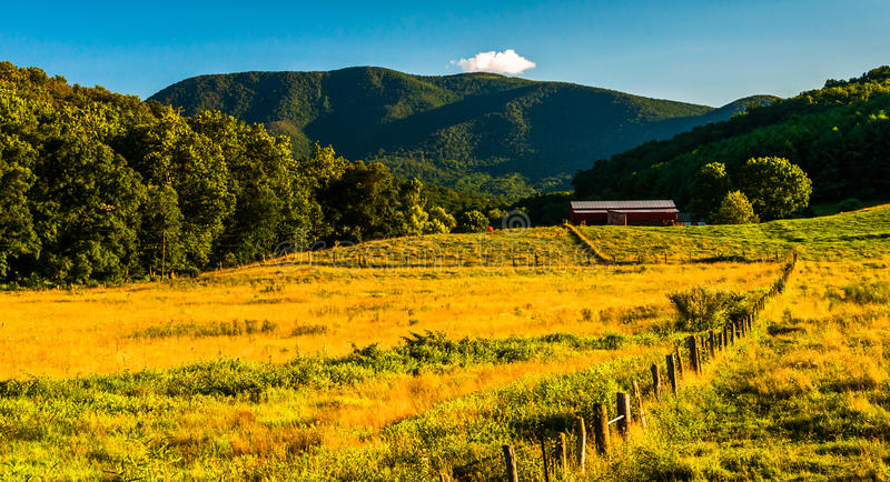 Farm and view of the Appalachians in the Shenandoah Valley, Virginia. Farm and view of the Appalachians in the Shenandoah Valley, Virginia royalty free stock photo