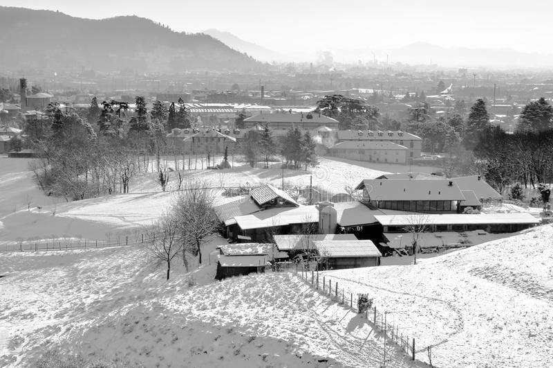Farm In Winter Stock Image
