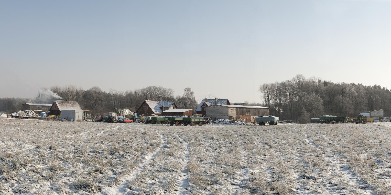 Download Farm in winter stock photo. Image of rural, cold, tree - 26787222