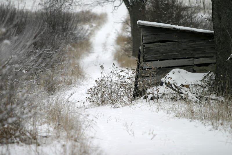 Farm in Winter stock photos