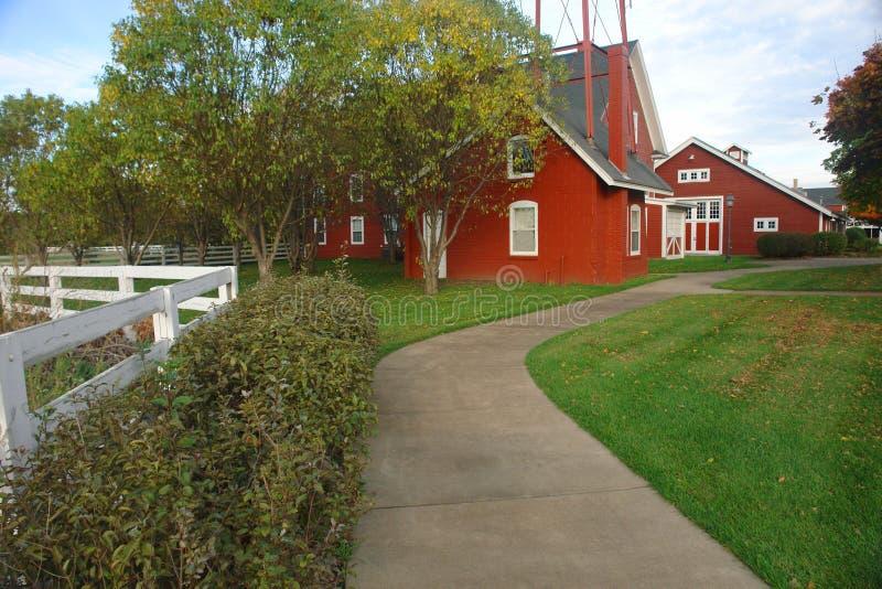 farma czerwony fotografia stock