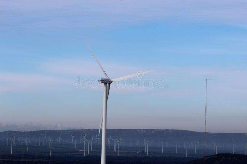 Farma wiatrowa Fascinas, Andalusia, Hiszpania zdjęcia stock
