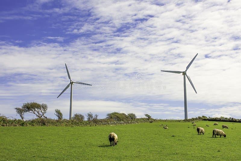 Farma wiatrowa UK zdjęcie stock