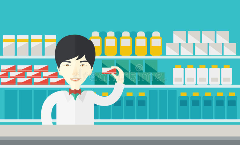 farmacéutico ilustración del vector