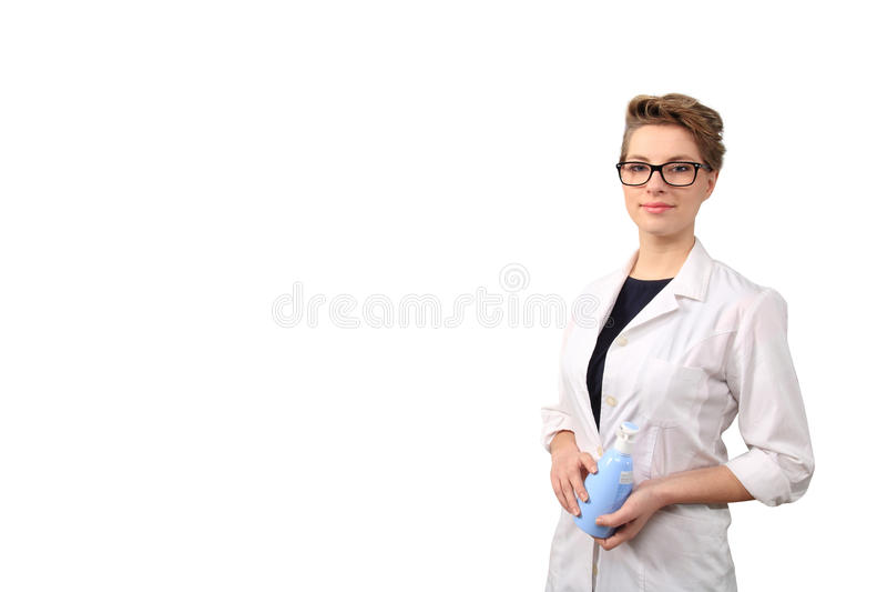 Farmacéutico de sexo femenino joven imagen de archivo