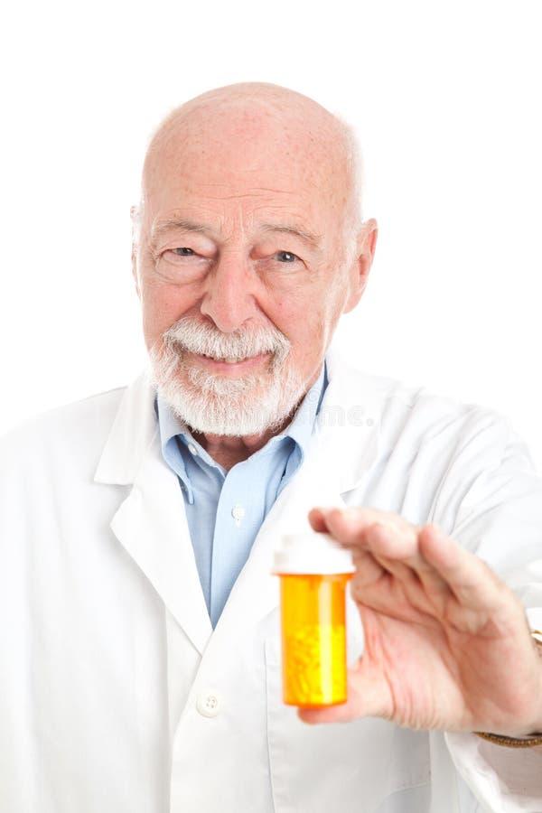 Farmacêutico com prescrição fotografia de stock