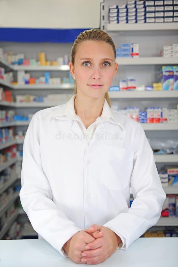 farmaceuta żeński portret obraz royalty free