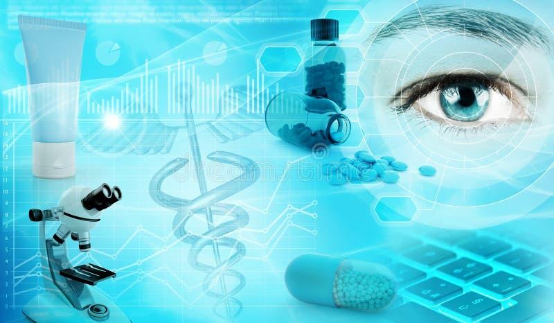 Farmaceutisch de Industrieconcept vector illustratie