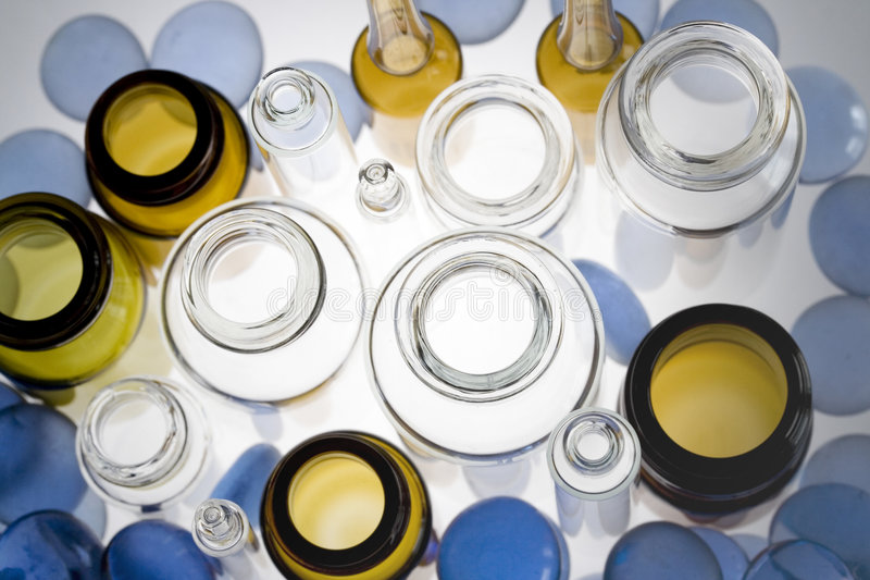 Farmaceutische flesjes IV stock afbeeldingen