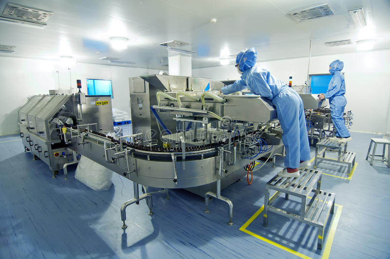 Farmaceutische installatie stock afbeelding