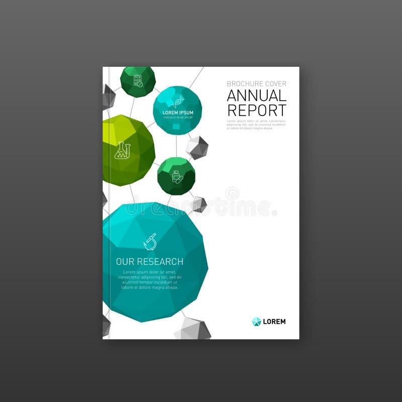Farmaceutisk broschyrräkningsmall vektor illustrationer