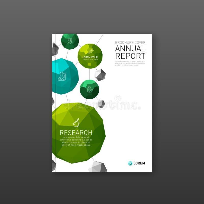 Farmaceutisk broschyrräkningsmall stock illustrationer