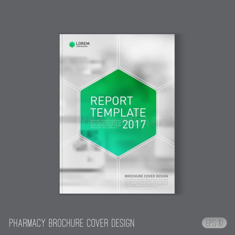 Farmaceutisk broschyrräkningsmall royaltyfri illustrationer