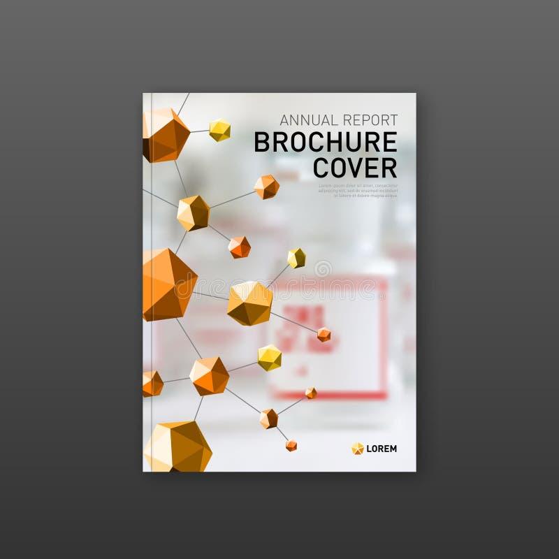 Farmaceutisk broschyrräkningsmall, reklambladdesignorientering stock illustrationer