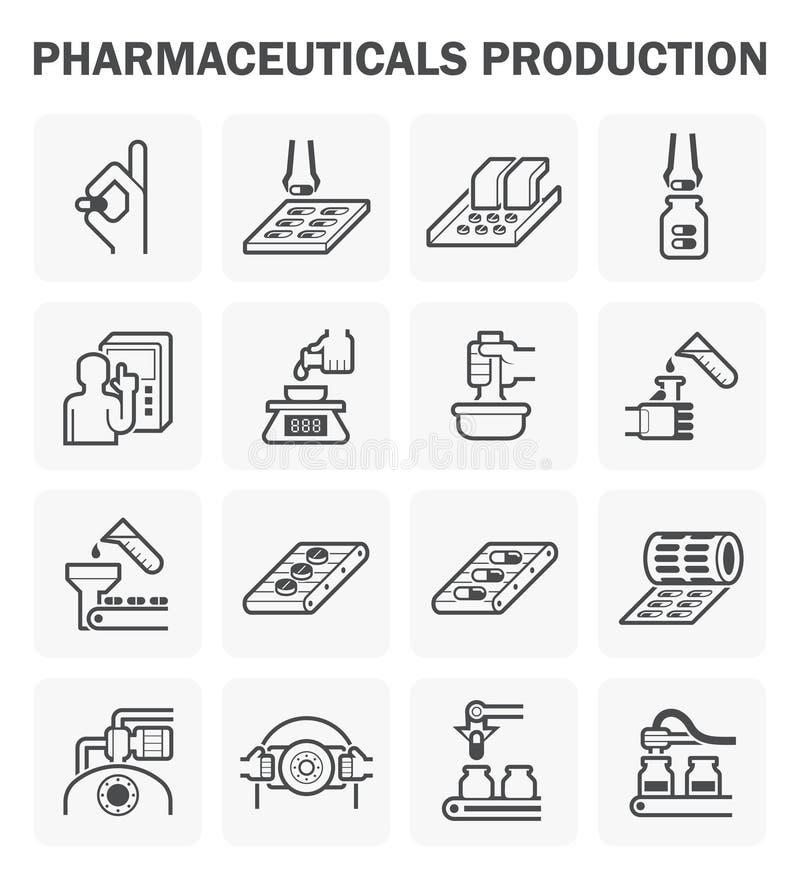 Farmaceutisk vektorsymbol vektor illustrationer