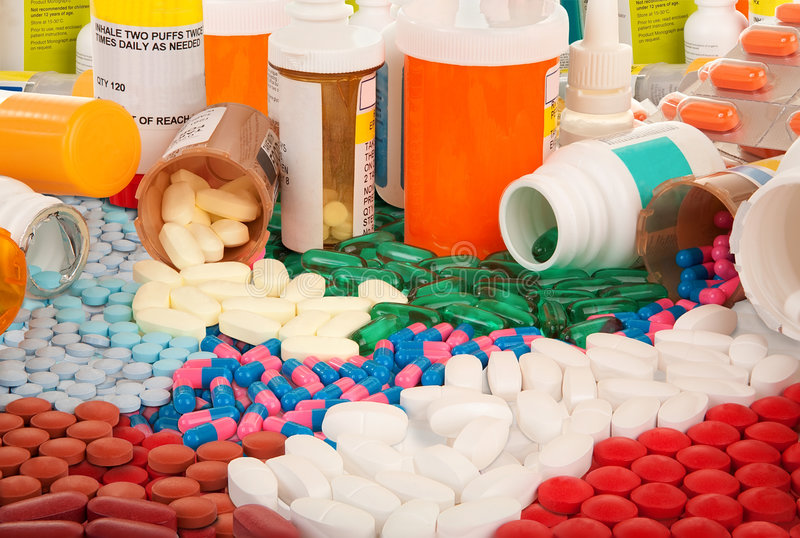 farmaceutiska produkter royaltyfria bilder