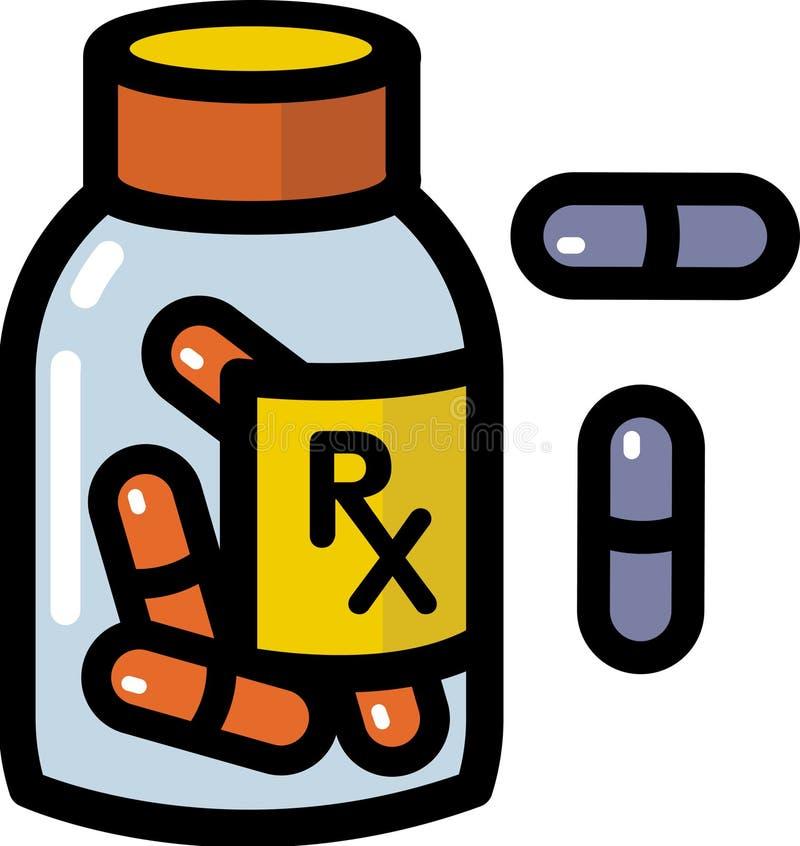 Farmaci da vendere su ricetta medica illustrazione di stock