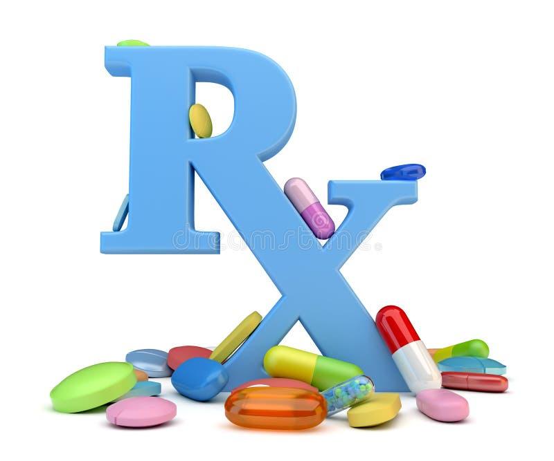 Farmaci da vendere su ricetta medica illustrazione vettoriale