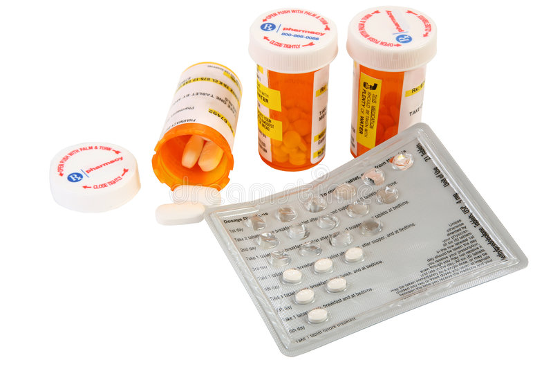 Farmaci da vendere su ricetta medica fotografia stock libera da diritti