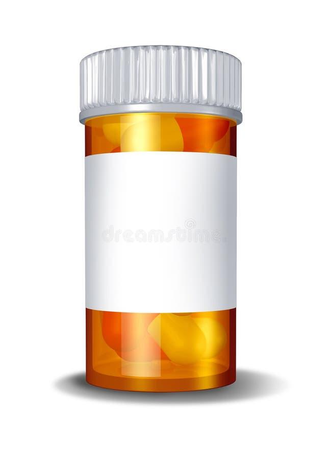 Farmaci da vendere su ricetta medica della bottiglia di pillola