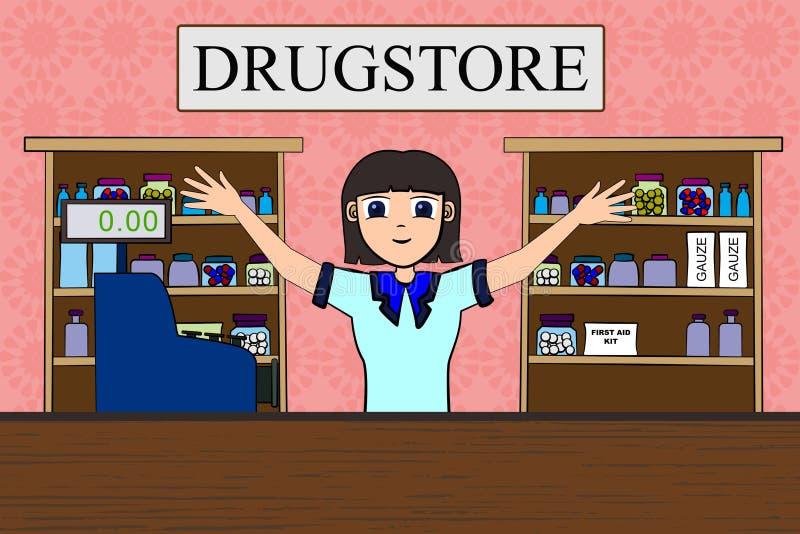 Farmacia royalty illustrazione gratis
