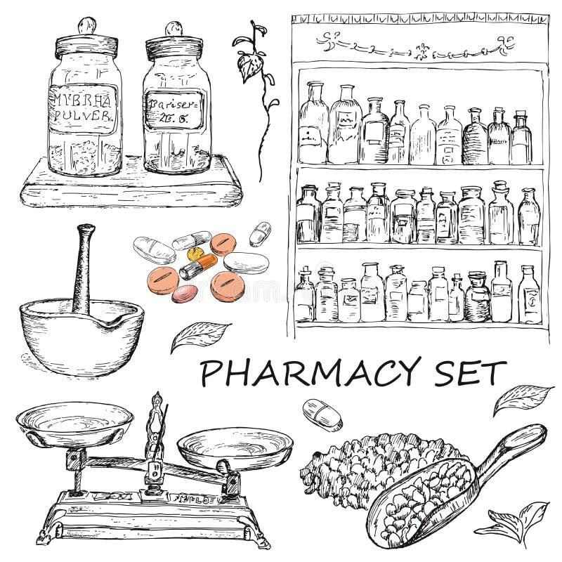 farmacia illustrazione di stock