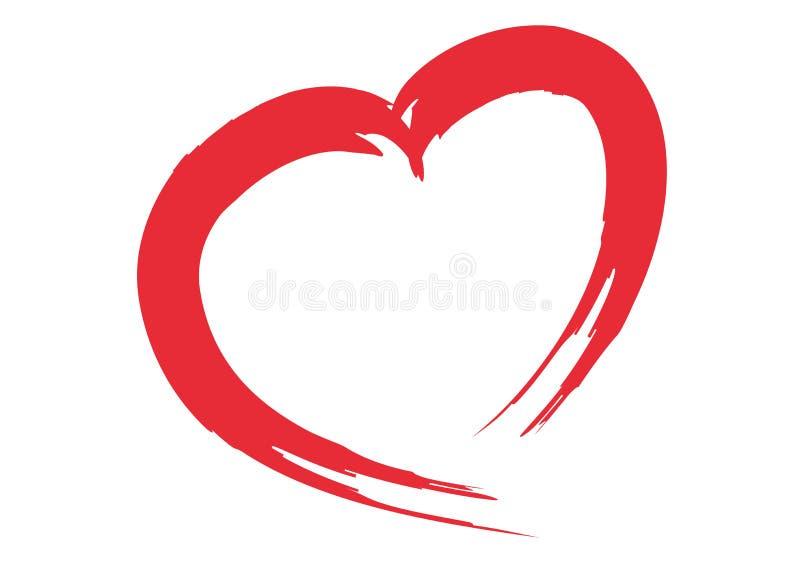 Heart logo royalty free stock photo