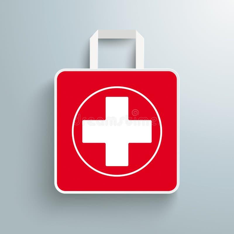 Farmacia di carta rossa del sacchetto della spesa royalty illustrazione gratis