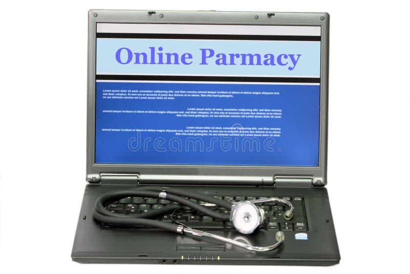 Farmacia en línea foto de archivo libre de regalías