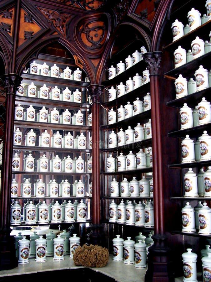 Farmacia francese a Avana fotografia stock