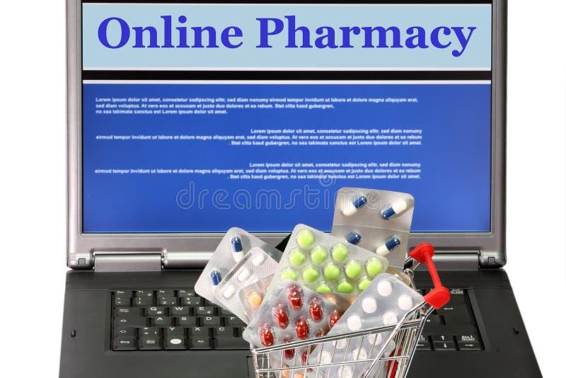 Farmacia in linea immagine stock