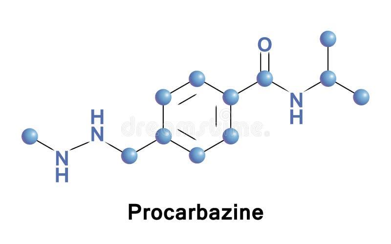 Farmaco di chemioterapia di Procarbazine royalty illustrazione gratis