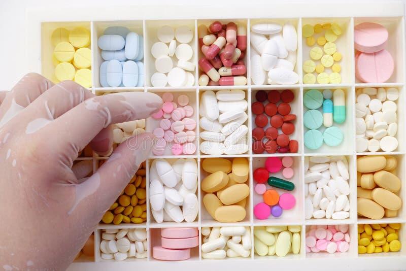 Farmaco differente isolato fotografia stock