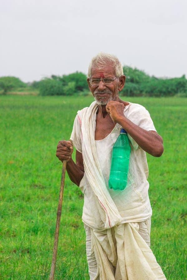 Farmer Ινδία στοκ εικόνα